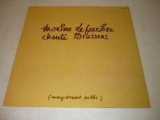 MAXIME LE FORESTIER 33 TOURS FRANCE CHANTE BRASSENS