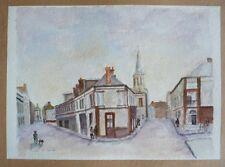Watercolours Original Of Vaubourg: Mills-the-Market