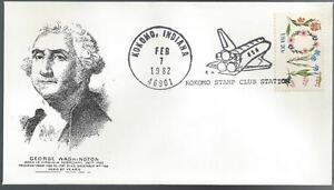 1982 Space Shuttle Kokomo Stamp Club Cover 3