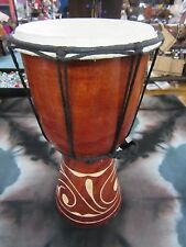 QUALITY HAND MADE DRUM 30 CM APPROX HIGH CARVED BONGO DRUM DJEMBE