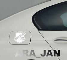 daBOSS Vinyl Decal Sticker Sport Racing car gas fuel tank emblem logo WHITE