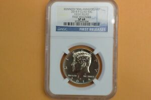 2014 P KENNEDY CLAD 50TH ANNIVERSARY NGC SP68 HIGH RELIEF FIRST RELEASES