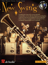 """NEW SWING"" INSTRUMENTAL PLAY-ALONG FOR ""CLARINET"" MUSIC BOOK/CD-NEW ON SALE!!"