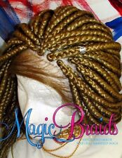 """Fully Hand Braided whole Lace Wig big box Color # 27 blond 18"""" to 22"""" baby hair"""