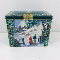 Vintage Ringtons Tea Tin / Caddy The First Snow