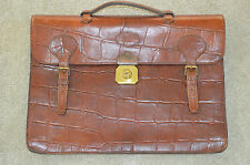 Mulberry Brown Congo Leather Satchel Briefcase Document Holdall Bag Mens Unisex
