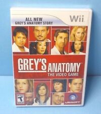 Grey's Anatomy: The Video Game (Nintendo Wii, 2009) BRAND NEW FACTORY SEALED