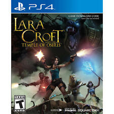 Playstation 4 LARA CROFT AND THE TEMPLE OF OSIRIS  DOWNLOAD New Sealed In Case.
