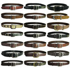 True Religion Mens Single Prong Designer Genuine Leather Belts