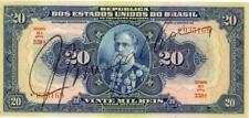 Brazil 20 Mil Reis Currency Banknote 1931 XF