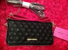 BETSEY JOHNSON Wallet Pink TOP BOW  Zipper Zip Around  Purse clutch On a String