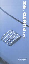 Fiat Punto Preisliste 17.10.97 1998 price list Autopreisliste Auto Pkw Preise