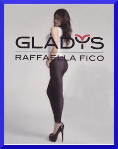Leggings GLADYS da donna effetto jeans fuseaux leggins nero felpati taglie S M L