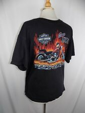 Harley Davidson Motorcycles Black S/S Shirt Men's Sz L One Hot Piece of Steel
