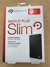 New Seagate Backup Plus Slim 2TB External Hard Drive Black PC/Mac Compatible