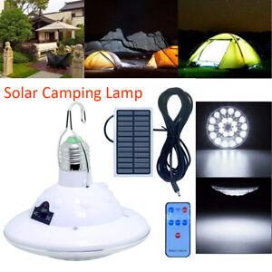 LED Solarleuchte Outdoor Camping Lampe Laterne Akku Zelt Licht 1000MAh DE
