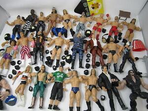 Lot of 24 Wrestling WWE Figures Jakks 2000's