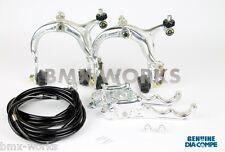Dia-Compe MX883 - MX120 Silver & Black Brake Set - Old School BMX Style Brakes