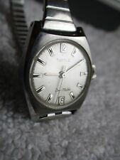 Vintage Rare Zell Bros. TURTLE Duo-Matic Stainless Steel Women's Watch ca. 1960