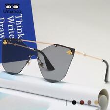 Umanco 2019 New Fashion Rimless Sunglasses Women Men Vintage Gold Small Bee Sun
