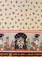 Life is Just a Chair of Bowlies Double - Mary Engelbreit - 1 Yard - By the Yard