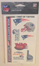 NFL 1 SHEET 7 TEMPORARY TATTOOS NEW ENGLAND PATRIOTS  FREE SHIPPING