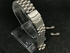 20mm seiko PRESIDENT stainless steel bracelet mens gents watch strap double lock