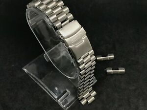20mm seiko PRESIDENT stainless steel bracelet mens gents watch strap double lock