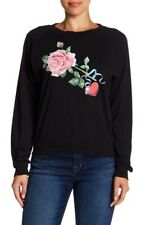 Wildfox Womens WRT19032W Sweatshirt Relaxed Black Size M