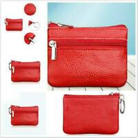 Women Fashion Leather Real Small Wallet Bag Coin Purse Card Holder Zipper Clutch