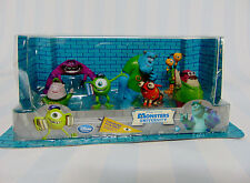 NEW Set (7) Disney Store MONSTERS UNIVERSITY Figurine Play Set Cake Toppers Toys