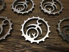 WarHammer Objective Markers - Chaos - Slaanesh Cog - Stainless Steel - 30mm