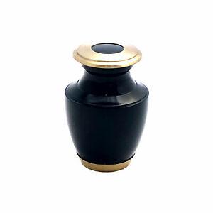 Well Lived® Small Brass Navy Blue Keepsake Cremation Urn set of 4