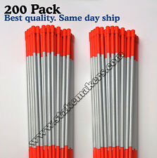 Driveway Markers  Bundle of 200 48 Inch Long Orange Reflective markers