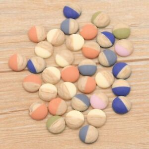 40Pcs 12mm 2020 Product 6Colors Natural Color Matching Ore Style Flat Back Resin