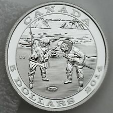 Canada $5 2014 Tradition of Hunting: The Seal - 99.99% Pure Silver Proof Coin