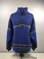 VTG Spyder Snowboarding Ski Knit Pullover Sweater Jacket Coat Fleece Size Medium