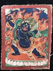 Mongolian Buddhist  Tsakli Thangka  painting  Mongolia 6x8