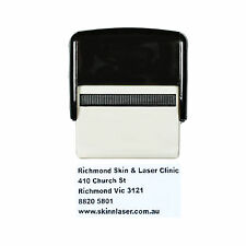Personalised Self Inking Rubber Stamp Custom Business Name Address LARGE 30x69mm