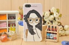 Cute 3D Glasses Girl Hard Case Cover For Apple iPhone 5 5S SE
