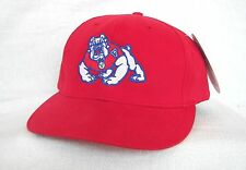 *FRESNO STATE BULLDOGS* Flat brim Fitted Ball cap hat TEKFLEX sample OURAY