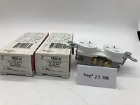 Lot Of 2 NEW Pass & Seymour TR20-W Legrand Duplex Receptacle Outlets