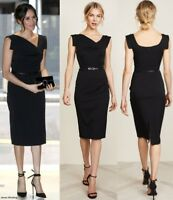BLACK HALO Jackie O Belted Sheath Hollywood Celebrity Black Eclipse Dress