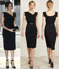 Black Halo Jackie O Belted Sheath Dress Size 4 #e267