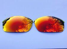 Grabado Polarizado Rojo Fuego espejadas lentes de reemplazo Oakley Flak Jacket