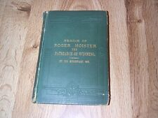 Memoir Of Roger Moister - Methodist Episcopal Church - Patriarch Of Wyoming 1883