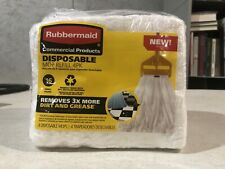 Rubbermaid Commercial Products Disposable Mop Refill 4 Pack #16 Small New