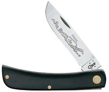 Case XX 095 Jet Black Synthetic Handle Sod Buster JR Folding Pocket Knife