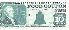 USA  / Food Coupon $10  Series 2000 B  Run B circulated Banknote