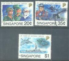 SINGAPORE 1992 National Service Set of 3 to $1 Used